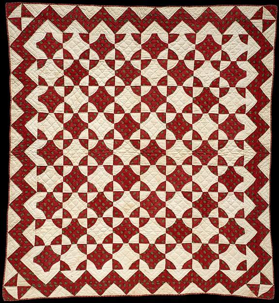 Crib Quilt, Mill Wheel pattern