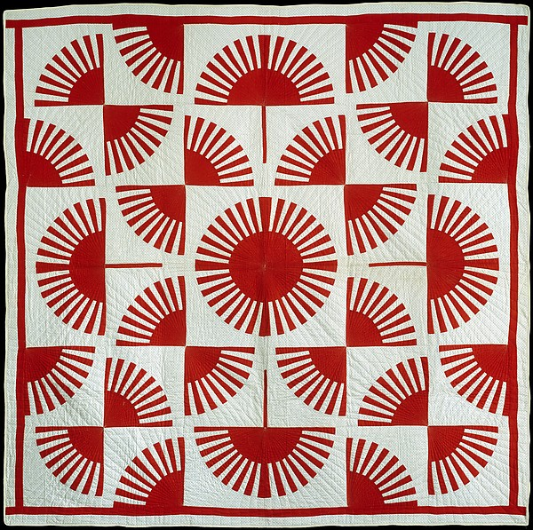 Quilt, Fan pattern