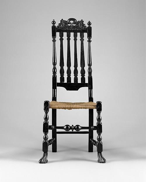 Banister-back chair