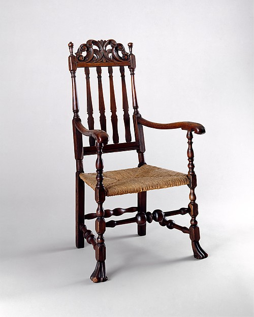 Banister-back armchair