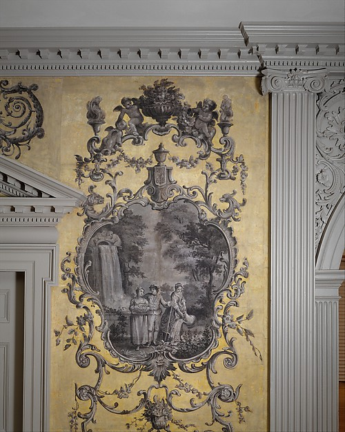 Door from the Great Hall of Van Rensselaer Manor House, Albany, New York