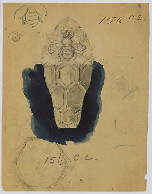Design Drawing for Perfume Container Exhibited at 1893 Columbian Exposition in Chicago