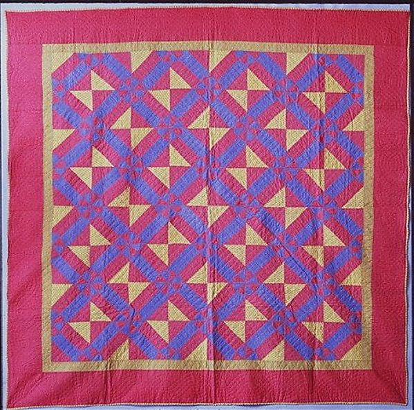 Quilt, Hearts and Gizzards pattern variation
