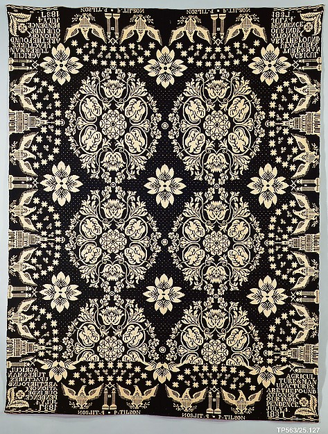 Coverlet, Agriculture & Manufactures pattern