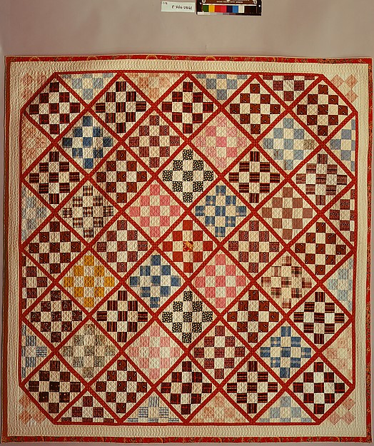 Quilt, Nine Patch pattern variation