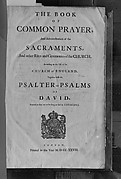 Book of Common Prayer, Bible, and Book of Psalms