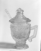 Covered Mustard Pot and Spoon