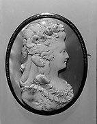 Cameo Portrait of Martha Washington