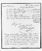 Manuscript of a Receipted Bill for Wallpaper