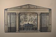 Design for mosaic tablet behind an altar