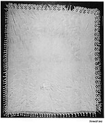Embroidered whitework coverlet