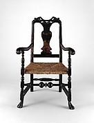 Splat-back armchair