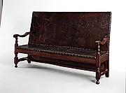Leather settle