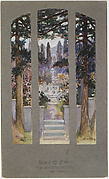 Design for window for Sarah Cochran, Linden Hall, Dawson, Pennsylvania