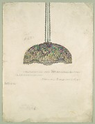 "Suggestion for 38"" Hanging Shade/ Laburnum Design/ Marshall Field and Co."