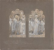 "Design for two windows, ""Te Deum Laudamus"""