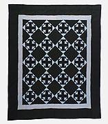 """Quilt, """"Double T"""" pattern"""