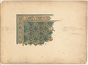 Design for a corner of a rug for the Curtis Publishing Co.