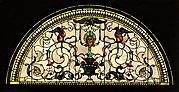 Stained Glass Lunette from the Cornelius Vanderbilt II House, New York