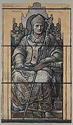 Cartoon for window, Saint Anselm, St. John's Chapel Episcopal Divinity School, Cambridge, MA