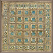 Design for square mosaic panel