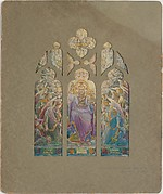 Design for Te Deum window