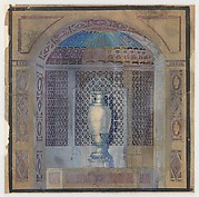Design for a niche with urn