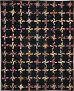 Quilt, Star of Lemoyne pattern variation