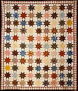 Quilt, Star of Lemoyne pattern