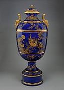 Covered Vase on Plinth