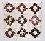 Doll Quilt, Chimney Sweep pattern