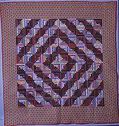 Quilt, Log Cabin pattern, Barn Raising variation