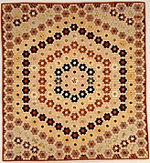 Quilt (or decorative throw). Hexagon or Mosaic pattern