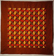 Quilt, Log Cabin pattern, Pineapple or Windmill
