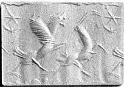 Cylinder seal: lion-griffin