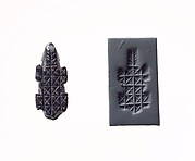 Stamp seal and modern impression: geometric pattern