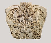 Panel with griffins back-to-back against a ground of lotuses
