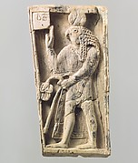 Plaque with a falcon-headed figure