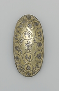 Oval bowl with grapevine scrolls inhabited by birds and animals