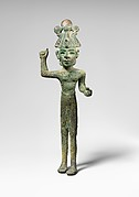 Smiting god, wearing an Egyptian atef crown