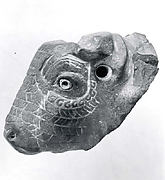 Bull head-shaped spout of vessel