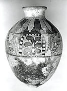 Jar with winged bulls and flanking palmettes