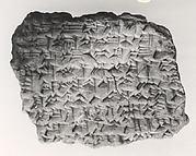 Cuneiform tablet: ritual fragment