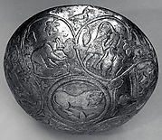 Hemispherical bowl with scenes of wine making
