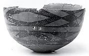 Bowl with cross-hatched decoration