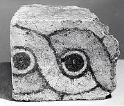 Brick fragments with a guilloche design