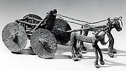 Wagon drawn by bulls