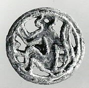 Openwork stamp seal: seated monkey