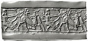 Cylinder seal and modern impression: hunting scene