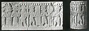 Cylinder with a ritual scene